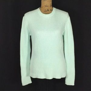 J. Crew XL Sweater Chunky Long Sleeve Light Blue
